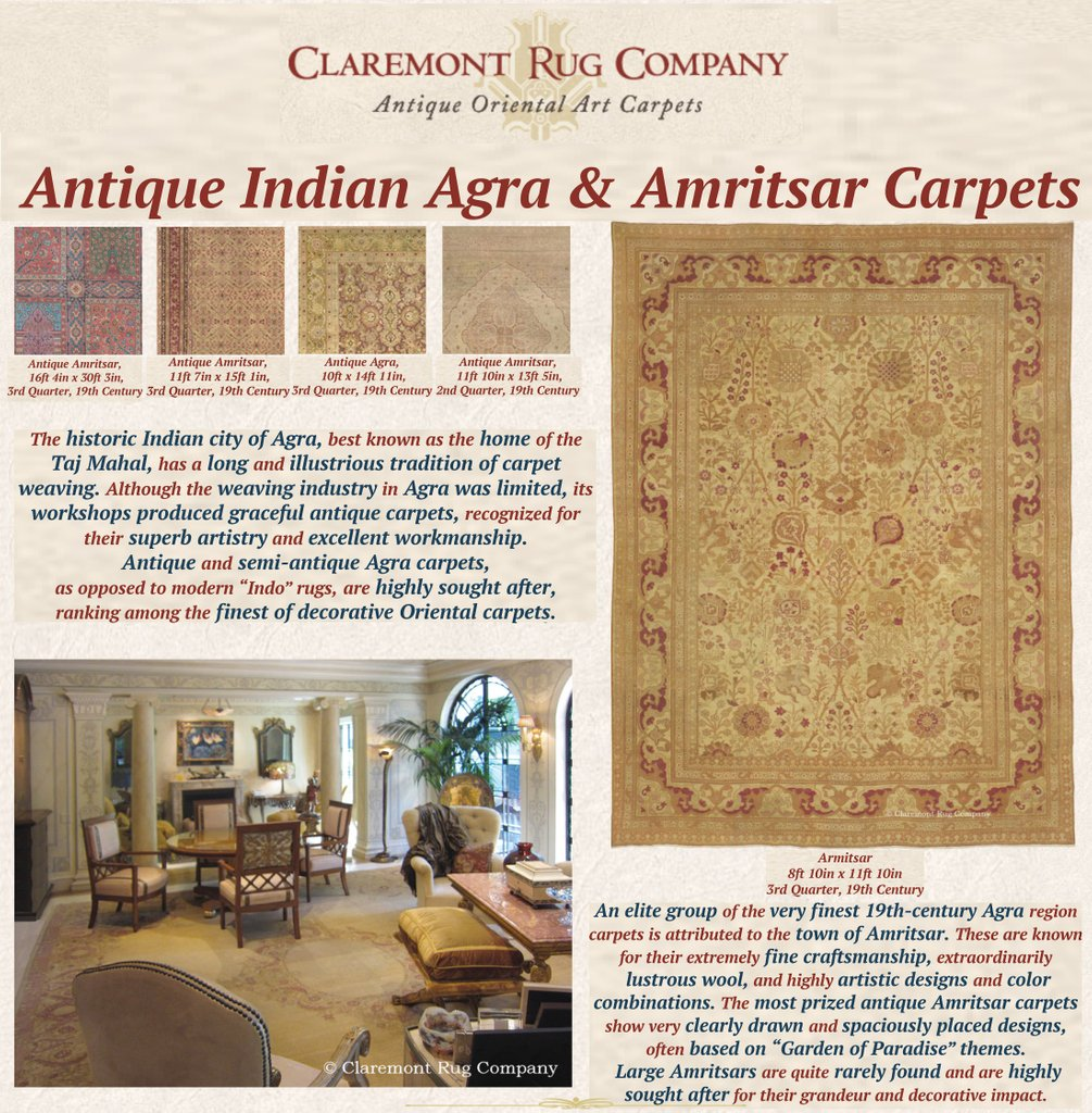 """The Mogul emperors were deeply affected by Persian art and culture, especially Persian carpets, in what is called """"The Golden Age of Persian Weaving"""". ..."""