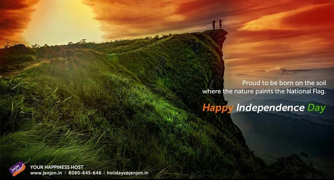 This Independence Day, let's bow to our soil and pledge to keep our mother nature healthy and free.   JenJon wishes everyone a very Happy Independence Day.  #IndependenceDay #Freedom #IndependenceDay2018 #JenJonHolidayHomes #HomeAwayFromHome #YourHappinessHost<br>http://pic.twitter.com/F43kpynxYM