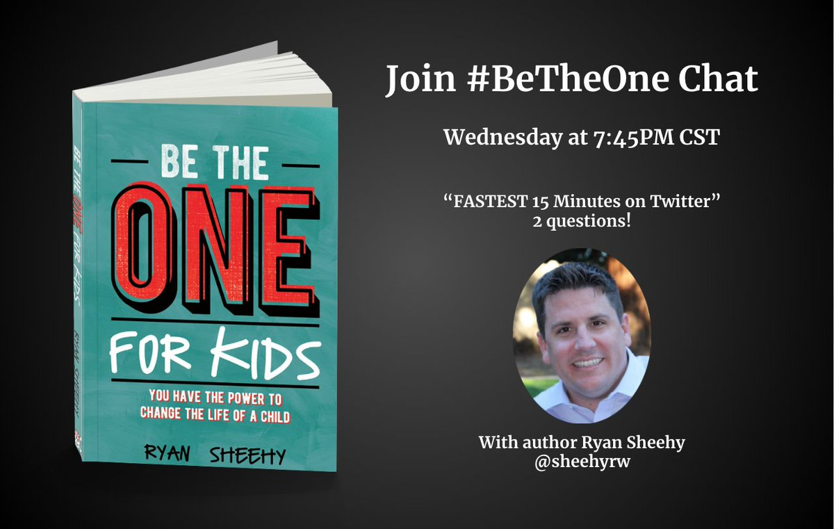 See you back here next Wednesday at 7:45pm CST for our #BeTheOne Chat.
