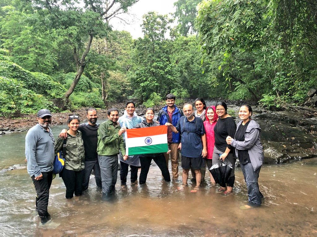 Real freedom from the hectic city life  - SGNP  With friends and environment enthusiasts. Blessed to have a jungle in the city, the lungs of Mumbai ! #IndependenceDayIndia <br>http://pic.twitter.com/6NVhn6zEos