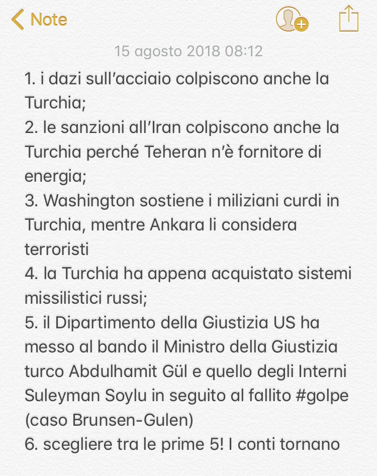 Per un approfondimento del caso #Turchia propongo un'eccellente e limpida sinossi di @ValsaniaM sul @sole24ore: da Brunson-Gulen alle sanzioni US  - Ukustom