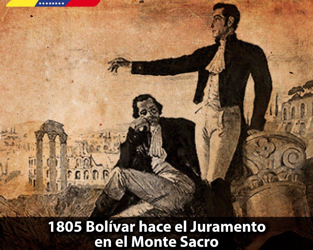 Resultado de imagen para Fotos del Monte Sacro (Roma) el general venezolano Simón Bolívar, jura la libertad de su patria y de toda América.