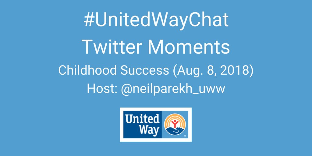 THREAD: Here is a series of Twitter Moments capturing highlights of the great content shared by United Ways in our #UnitedWayChat on #ChildhoodSuccess.   Top contributors are tagged in this first image.   cc: @LisaBowmanUWW @mbsellers @BGallagherUW @JosePedroFerrao @PRSprings<br>http://pic.twitter.com/vGLymFRDcC