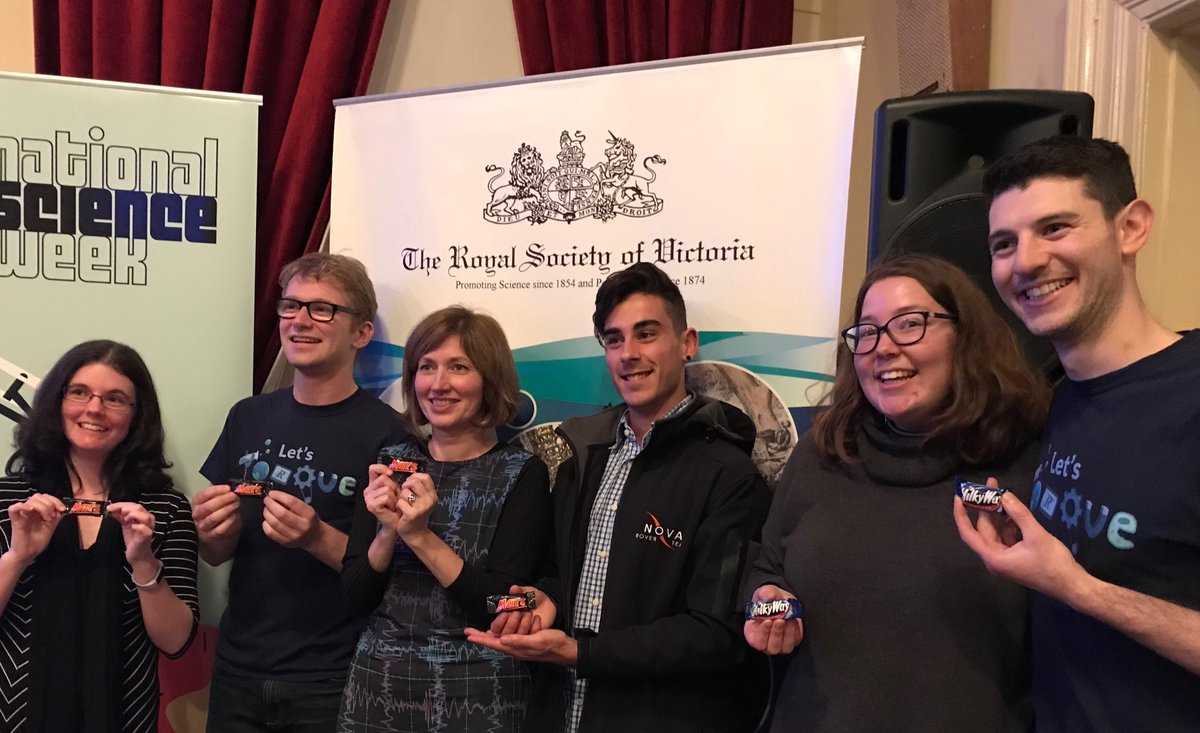 Thank you @SistersInSci @LetsTorqueSTEM and @RoyalSocietyVic for having us on the panel about the future of space travel for #scienceweek, the questions from the audience were excellent! @dedcena @nova_rover_team @Aus_ScienceWeek<br>http://pic.twitter.com/gnJmFrMVZ8