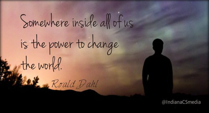 TY, children&#39;s author, Roald Dahl for some #WednesdayMotivation &#39;Somewhere inside all of us is the power to change the world.&quot; #changetheworld @gary_hensel<br>http://pic.twitter.com/a0OWhTNxIN