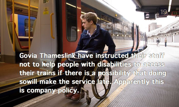Petition · Everyone!: Allow disabled people freedom to travel on trains  https://www. change.org/p/everyone-all ow-disabled-people-freedom-to-travel-on-trains &nbsp; … <br>http://pic.twitter.com/o6NRBFRfFe