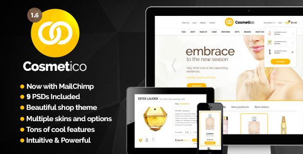 Cosmetico – Responsive eCommerce WordPress Theme –Nulled Foto