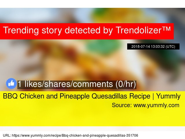 BBQ Chicken and Pineapple Quesadillas Recipe | Yummly #yummly https://t.co/LEzCAOIzZV https://t.co/XZ5nm9rdPF