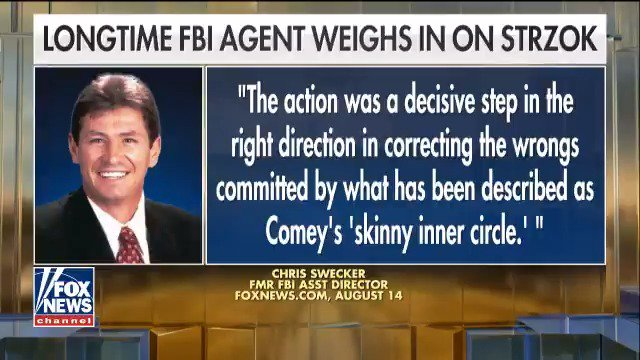 Former @FBI official: Firing Strzok was justified – he, Comey and McCabe disgraced the FBI https://t.co/jDRaQqtVfF https://t.co/OiVOeXIcB3
