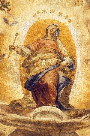 """#15Agosto #Assunzione di #Cigoli, Cappella Paolina, Santa Maria Maggiore, #Roma (1610-1612)La Madonna galileiana. Cigoli """"pinto la Luna nel modo che da V.S. [#Galileo ] è stata scoperta, con la divisione merlata e le sue isolette""""#BuonFerragosto #ArtLovers #Scienza  - Ukustom"""