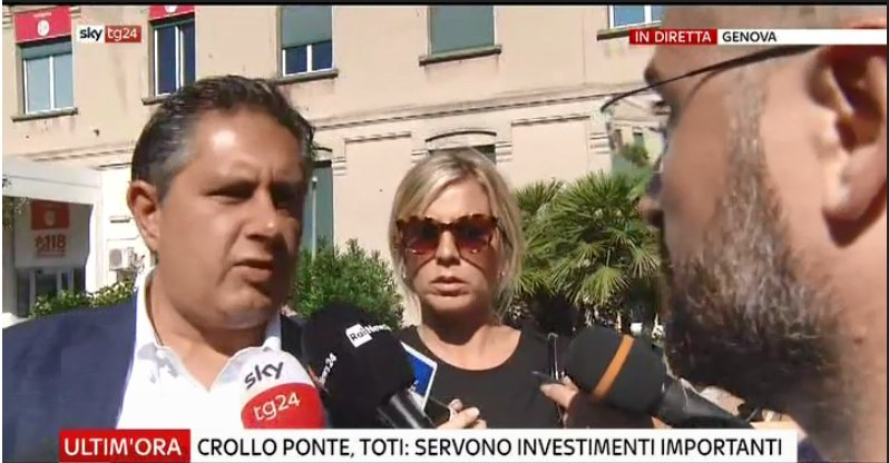#UltimOra Crollo ponte, Toti: ridare operatività a porto #Genova #canale50 http://sky.tg/m8cyy  - Ukustom