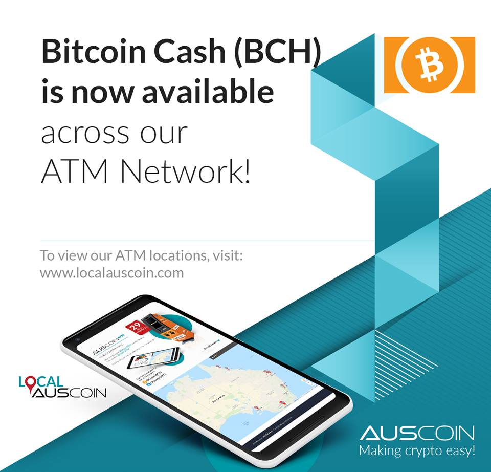 Bitcoin Cash is now available across the network! The community has spoken! @rogerkver @BITCOlNCASH #bitcoin #bch #crypto #auscoin<br>http://pic.twitter.com/5lOPv89hDx