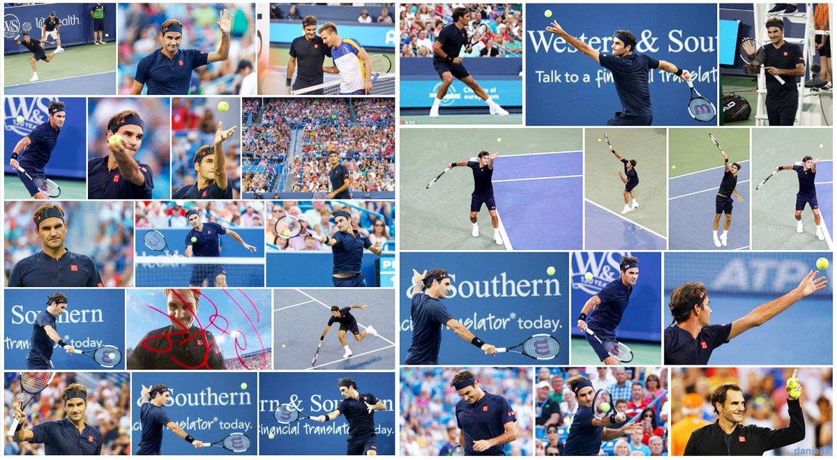 Our Roger in action yesterday at Cincinnati return win Bravo We missed you @rogerfederer #Federer #CincyTennis<br>http://pic.twitter.com/OPg18Pu7L9