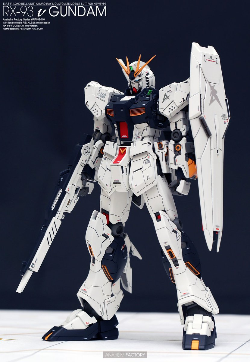 [AF_Official]   1:144 scael studio RECKLESS resin cast kit RX-93 ν GUNDAM &quot;RRM version&quot;<br>http://pic.twitter.com/H0a3N6GLzM
