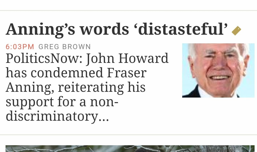 This tosser lied about children overboard and sadly used refugees on the boat Tampa to divide our nation to win an election and we never got to have the brilliant Kim Beazley as Prime Minister.. John Howard is a disgraceful deplorable man  #auspol<br>http://pic.twitter.com/NRIFx8jzlW