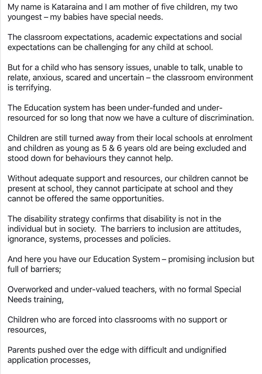 Five Special Education Vips Very >> Vips Equity In Ed On Twitter Transcript For Kataraina S Powerful