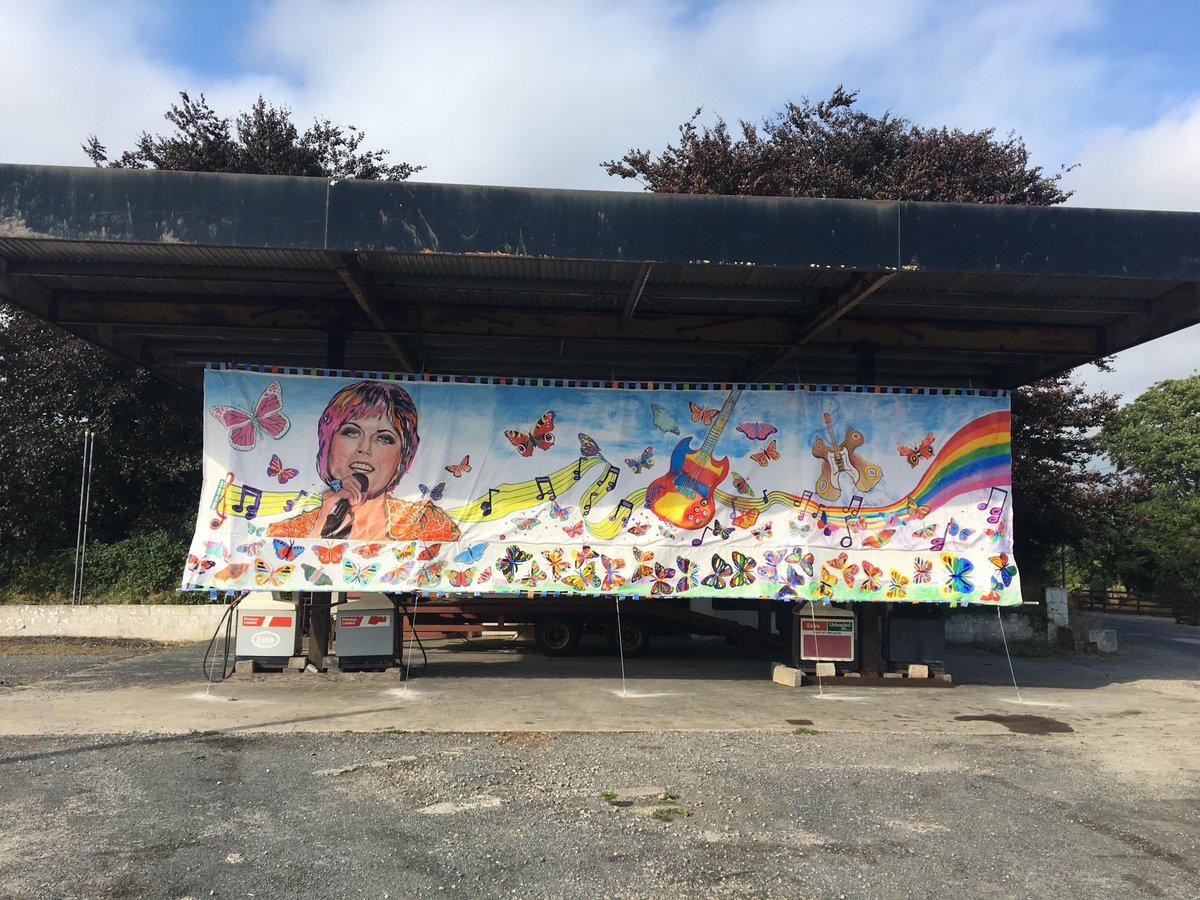 A Dolores O'Riordan tribute has been displayed, in Co.Limerick. Over 30 children (5 – 11) were involved in this project. The children worked on different parts of the mural, each painting an individual butterfly, inspired by The Cranberries song, Just My Imagination. <br>http://pic.twitter.com/7z03KlKYnx