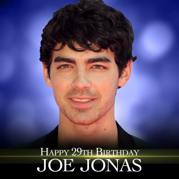 Happy Birthday to singer Joe Jonas. He turns 29 today.