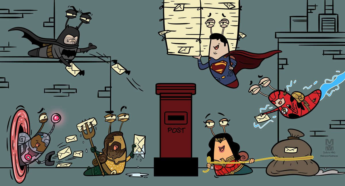 Join to the snail mail campaign! The #JusticeLeague Snails already posted their letters and now waiting for you. You could send your own fanarts too. Just make sure that they&#39;re positive. #ReleaseTheSnyderCut #DCEU<br>http://pic.twitter.com/RuJIrfPTDl