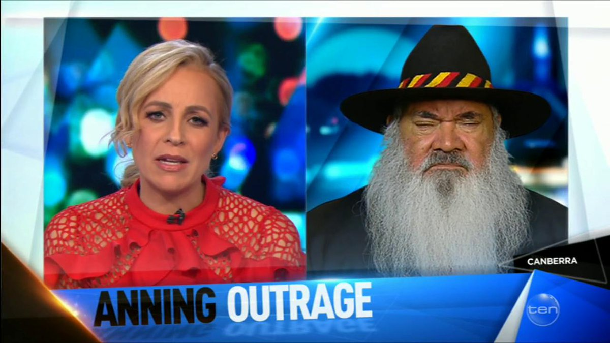 """""""There is an underbelly of racism in this country, of ignorance, and of fear"""" Senator Pat Dodson responds to maiden senate speech by Senator Anning. #TheProjectTV"""