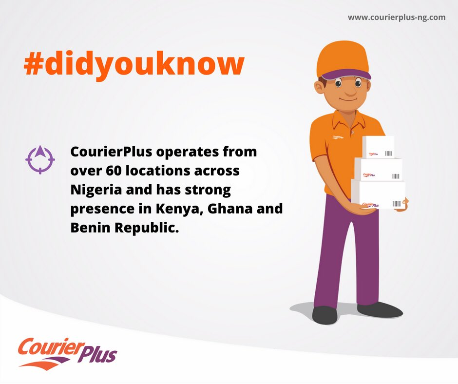 #Didyouknow we operate from over 60 locations across Nigeria. 💪🏽#Nigerianfacts #logisticsinAfrica #courierplus
