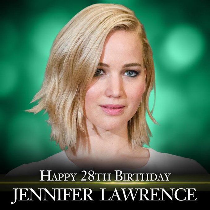 Happy Birthday to actress Jennifer Lawrence!