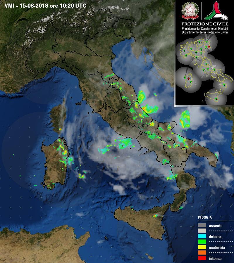 [15.08-12:30] #Italia ultima immagine RADAR #meteo di Dipartimento della Protezione Civile @DPCgov http://goo.gl/cenuZa  - Ukustom