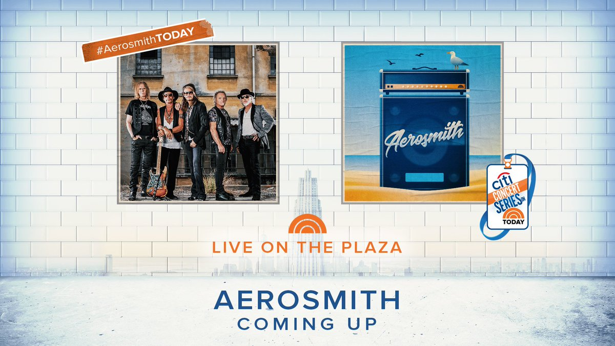 Today on TODAY: A very special concert from @Aerosmith live on the Rock Center Rink! #AerosmithTODAY