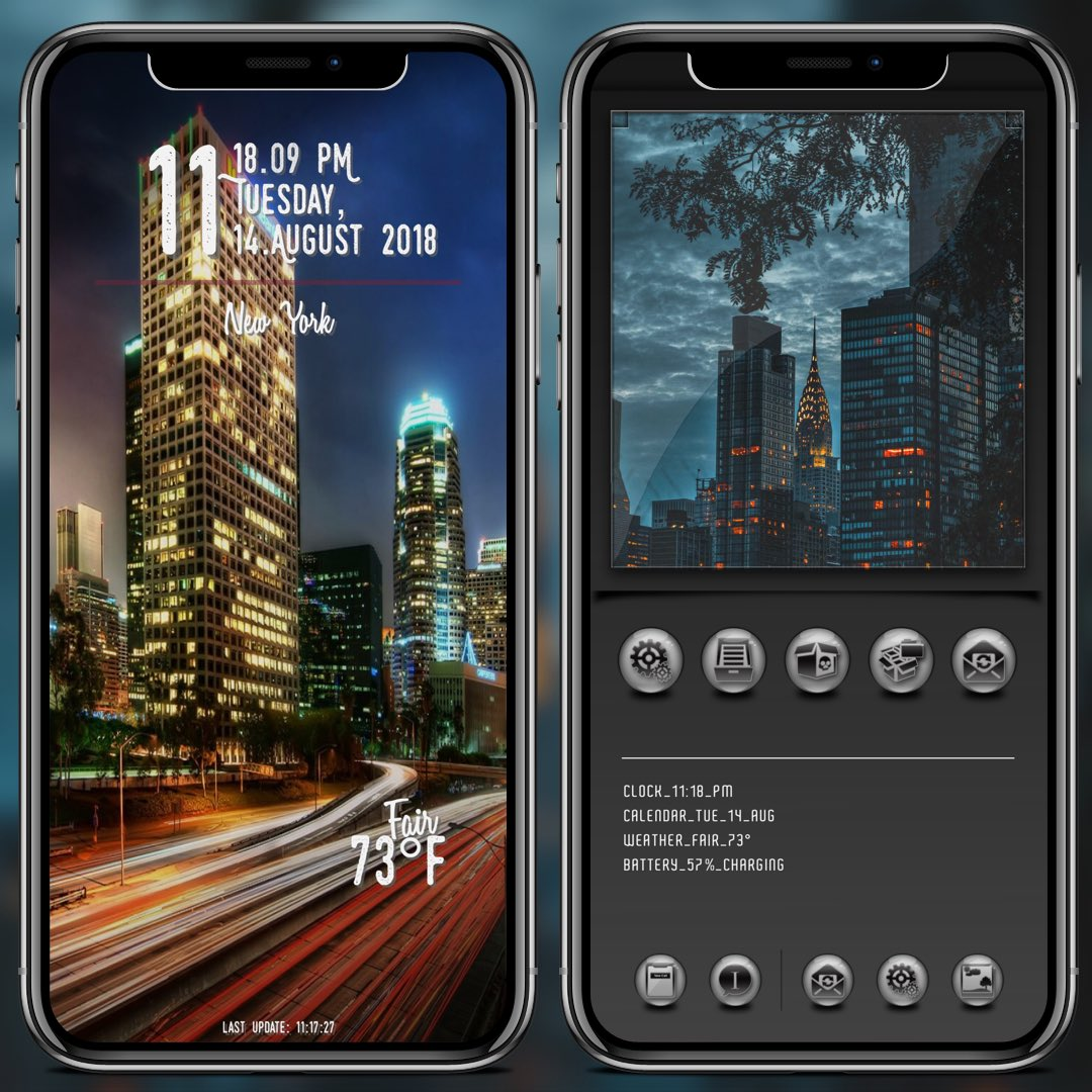 My current setup #BLQtheme by @bAdGBteam @Ecko666 @bAdstylee and myself. #XenHTML by @_Matchstic LS widget by @thewaytozion SB widget by @ev_ynw wall by me...<br>http://pic.twitter.com/JJR4nbcjw9