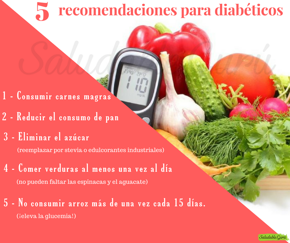 recomendaciones de alimentos para la diabetes tipo 2