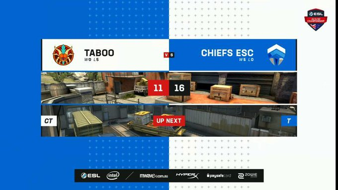 Join us on Train as we see the second map between @ChiefsESC 🆚 @TabooESC! #ESLAUNZ Photo