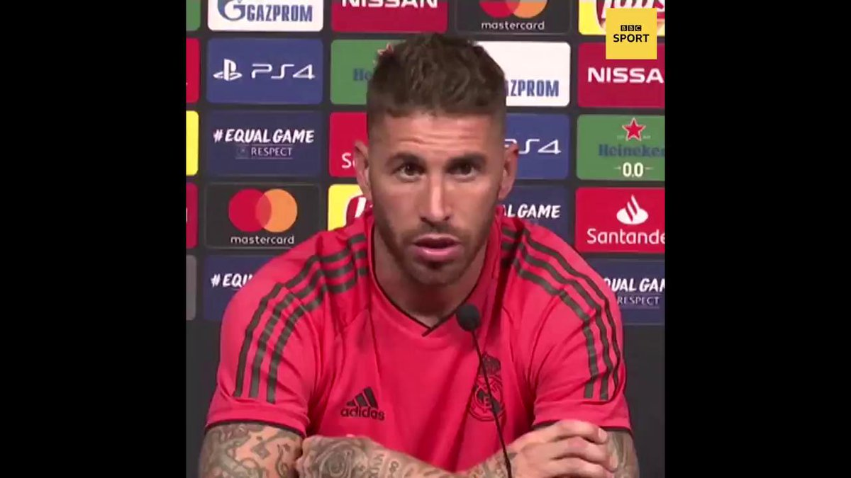 'In fact Mohamed Salah grabbed me first'  Sergio Ramos says Jurgen Klopp should take care of his own business.  #LFC