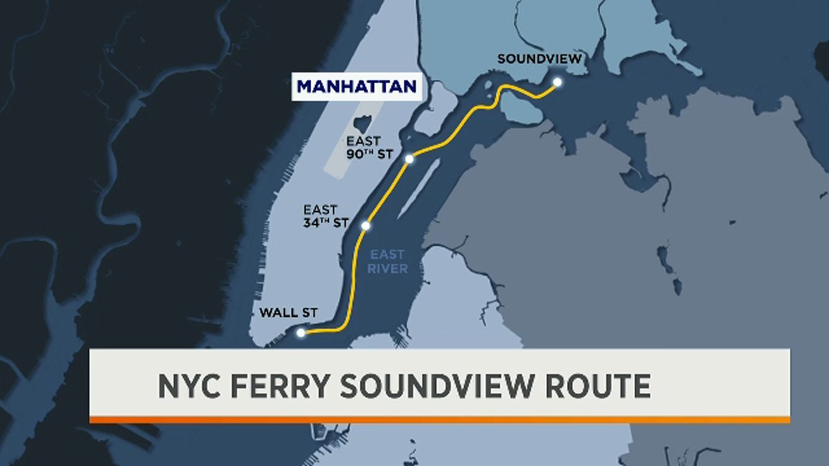 The new NYC ferry Soundview route cuts Bronx residents commute to lower Manhattan in half. Could this be an alternative to roasting on the subway platform? #MorningsOn1 <br>http://pic.twitter.com/StqsAzDApV