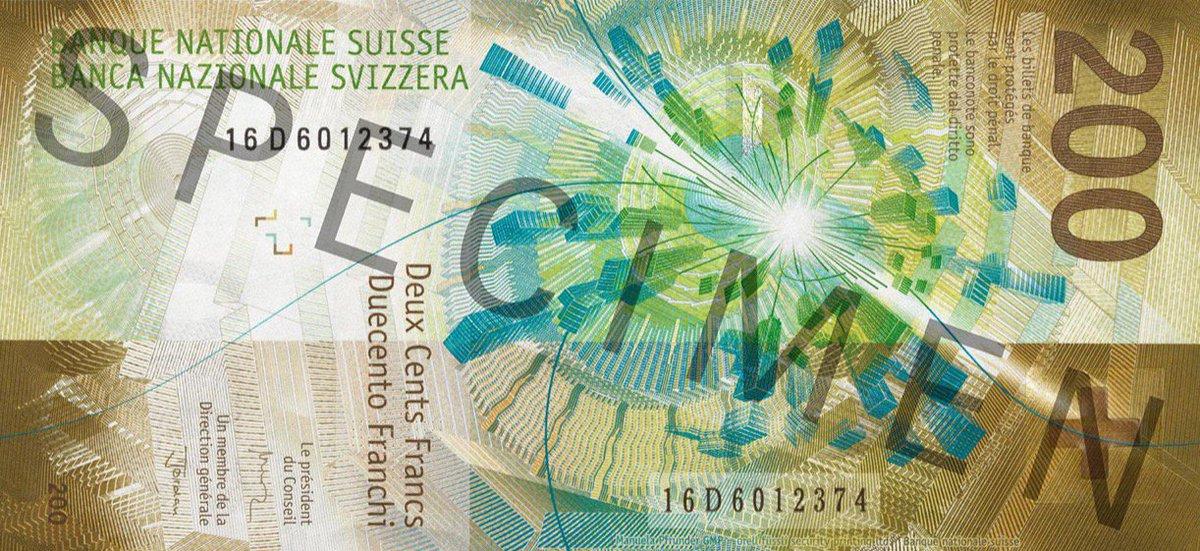 The new 200 Swiss Frank bill carries particle collision event display   https://www. nzz.ch/wirtschaft/bil dstrecke/die-neue-200er-note-ld.1411557#lg=1&amp;slide=0 &nbsp; … <br>http://pic.twitter.com/AOa6W88d1l
