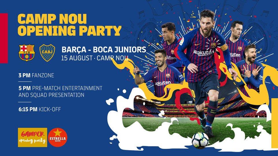 [�� LIVE] Watch @FCBarcelona  �� @BocaJrsOficial �� https://t.co/MLc1qjuP4b �� ���� #GamperBarça https://t.co/cEeqJSEShX