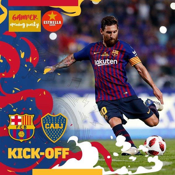 �� Comença el partit! ⚽ Barça �� Boca Juniors �� Camp Nou ���� #GamperBarça https://t.co/IvHrP7l701