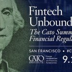 Image for the Tweet beginning: The @CatoInstitute Summit on Financial
