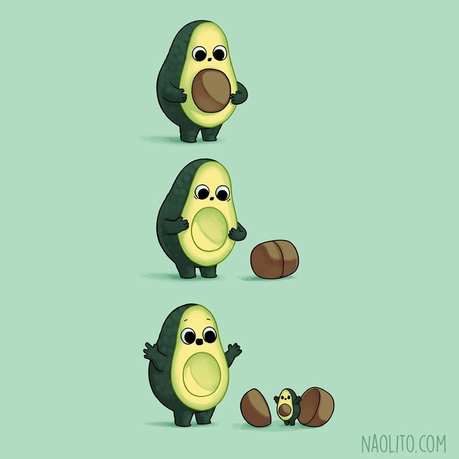 "🥑😂.    ""Kindest Surprise"" by Naolito: https://t.co/KiRronQhBz  #Humor #Avocado #DigitalArt"