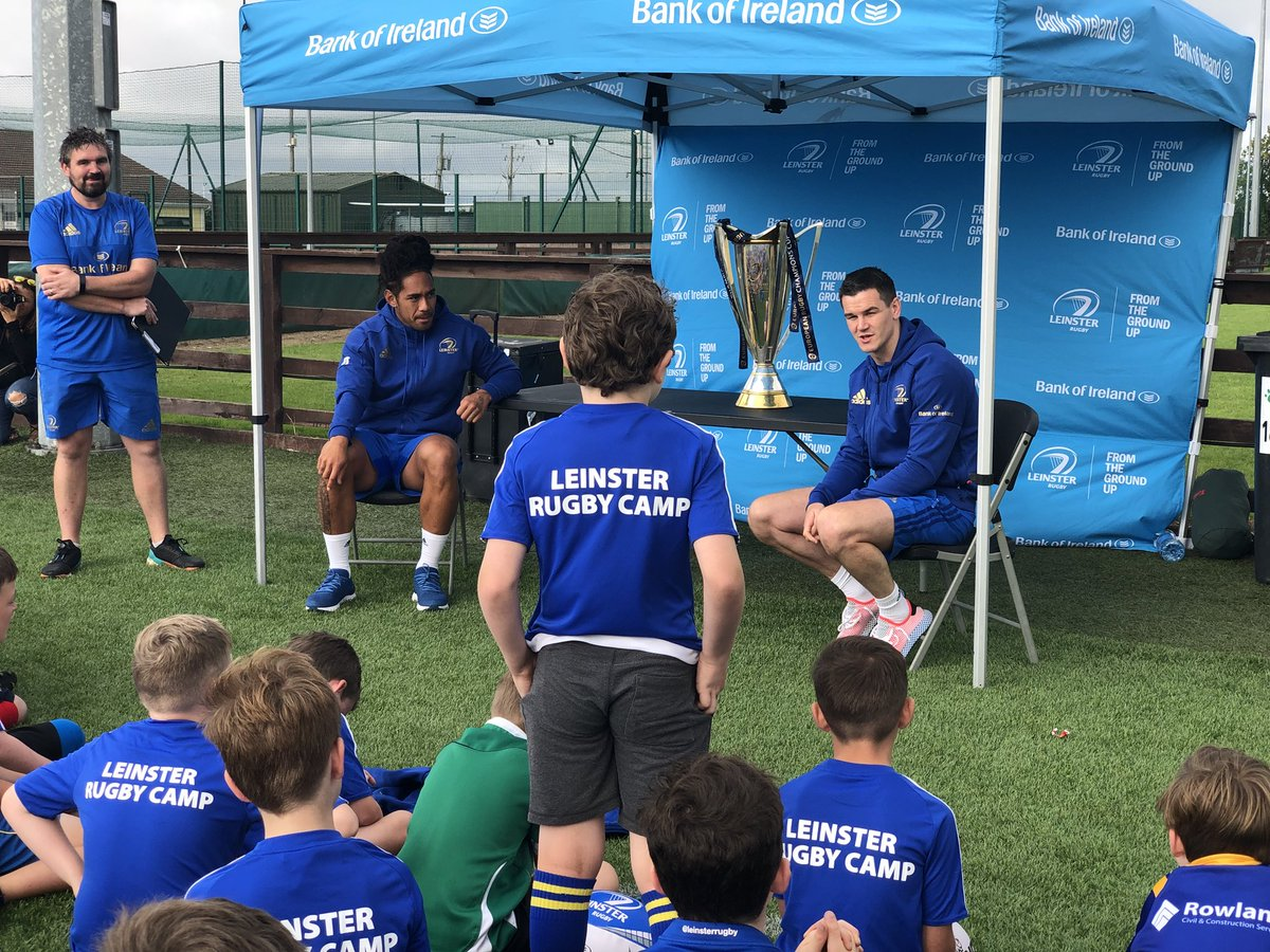 As our @bankofireland @LeinsterBranch Summer Camps comes to a close, its great to see all the pictures of the children meeting their #LeinsterRugby heroes. Excellent role models to look up to and they're only happy to give their time to their fans #FromTheGroundUp #BOIrugby<br>http://pic.twitter.com/T8vXOCuje3