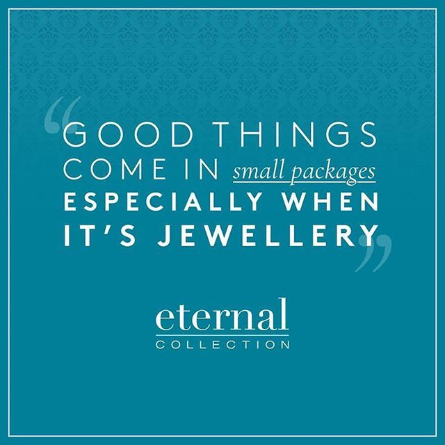 Eternal Collection On Twitter Good Things Definitely Come In Small