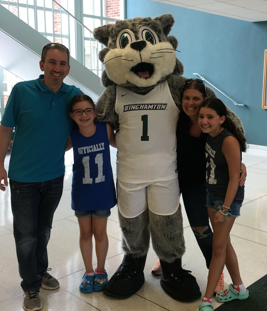 Daniel Gornstein &#39;95, MS &#39;96 visited campus for the first time in over 20 years with his family recently, and the SOM alumnus was impressed by how much the school has grown.  &quot;Going back to @binghamtonu was like seeing an old friend who you haven't seen in 20 years.&quot;<br>http://pic.twitter.com/0b5hzeLcuI