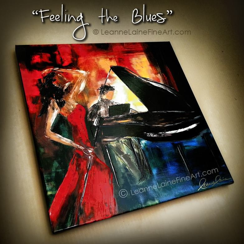 My art Feeling the Blues ready for a client (find this art in many sizes:  http:// leannelainefineart.com/feeling-the-bl ues.html &nbsp; … ) #music #song #health #wellness #HumpDay #WellnessWednesday <br>http://pic.twitter.com/uxD64littu