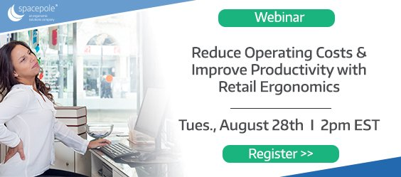 test Twitter Media - Have you registered for our upcoming webinar on retail ergonomics? What are you waiting for? We'll be discussing the advantages like increased savings, increased employee morale and productivity, and how to implement. Register today https://t.co/9teuvoKhDY #WednesdayWisdom https://t.co/BP4zOzrhk3