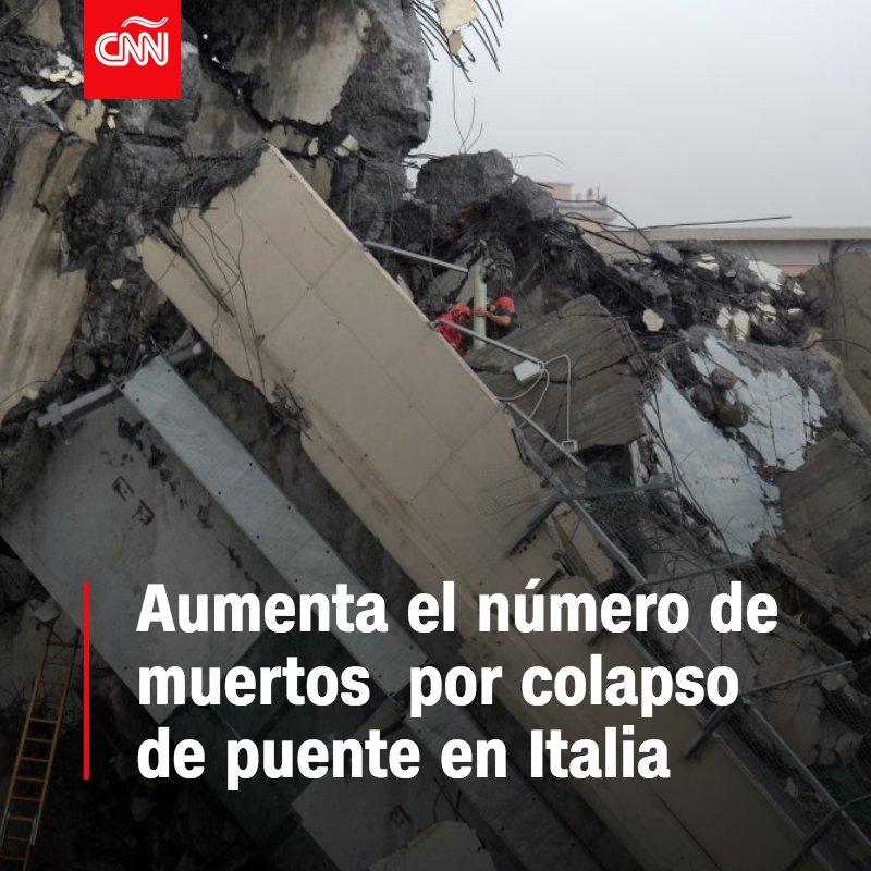 TRAGEDIA EN ITALIA Al menos 39 muertos tras el colapso del puente en Génova  https://t.co/8LR0ocm5u3 https://t.co/XndcmRZyTr