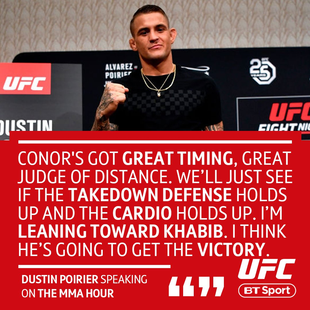 Everyone is talking about Conor vs. Khabib...  Poirier 🇷🇺 Faber 🇮🇪 Alvarez 🇷🇺 Lee 🇮🇪  Some of the early fighter predictions show how split opinions are 👀 #UFC229