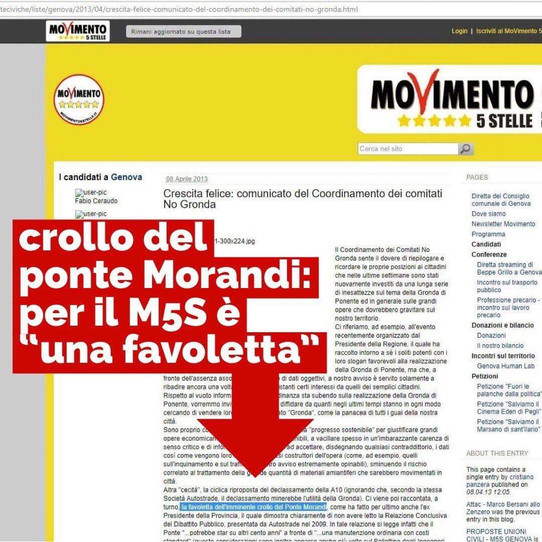 #DiMaio e #Toninelli oggi puntano il dito contro Autostrade per l'Italia i cui pareri sullo stato del ponte #Morandi sono stati utilizzati dal #M5s per motivare il No alla #Gronda. Va bene essere spudorati ma così è troppo #favoletta  - Ukustom