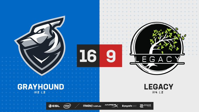 After complications last week we see @grayhoundgaming secure a 2-0 for tonight against @LegacyOCE! 💪 #ESLAUNZ 📺 Photo