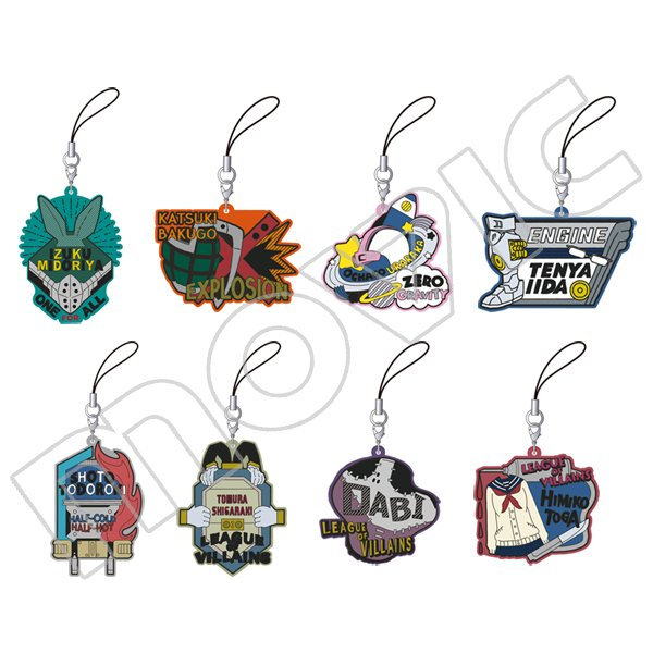 Movic is coming out with a new set of rubber straps featuring Boku No Hero Academia heroes and villains with their outfits and motifs as rubber straps! Release Date: October 2018  http:// bit.ly/2P9io8l  &nbsp;  <br>http://pic.twitter.com/EZ563LXuZA