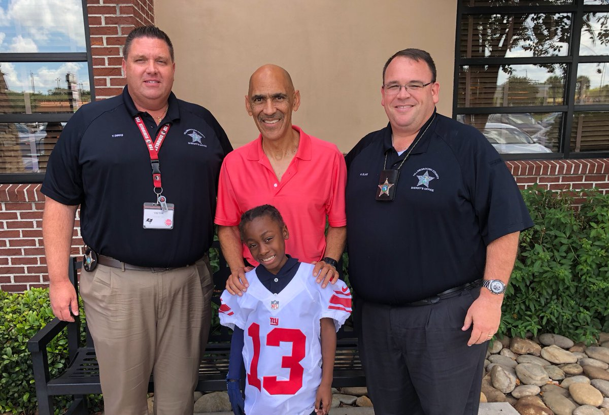 Little Ronnie has gone through one of the most traumatic experiences a child could endure. Odell Beckham is his favorite player and I have to give a huge shoutout to Officers Dirks & Blair of the Hillsborough County Sheriff's Office and The NY Giants for making this day happen!