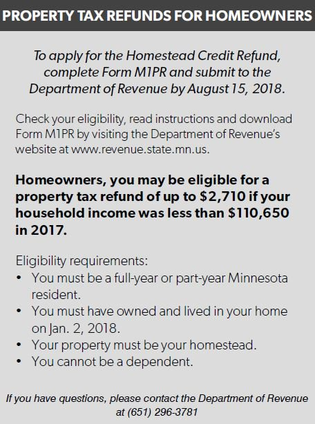 Best Mn Property Tax Refund Instructions 2011 Image Collection